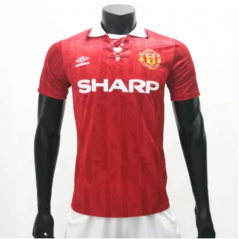 Manchester United 1992/1994 Home  Retro Soccer Jerseys(customizable number name)