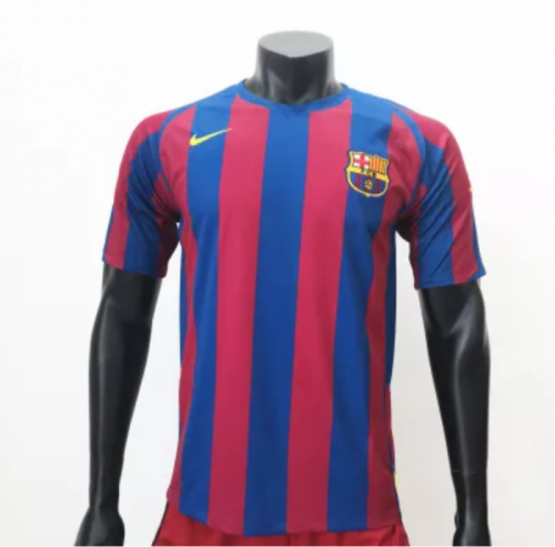 Barcelona 2005/2006 Home Retro Soccer Jerseys(customizable number name)