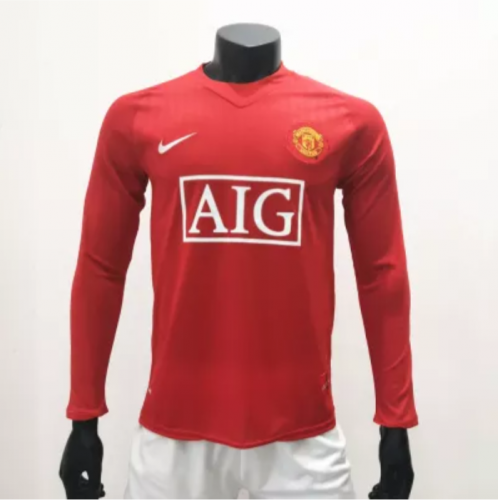 Manchester United 2010/2011 LS Long Sleeve Retro Soccer Jersey(customizable number name)