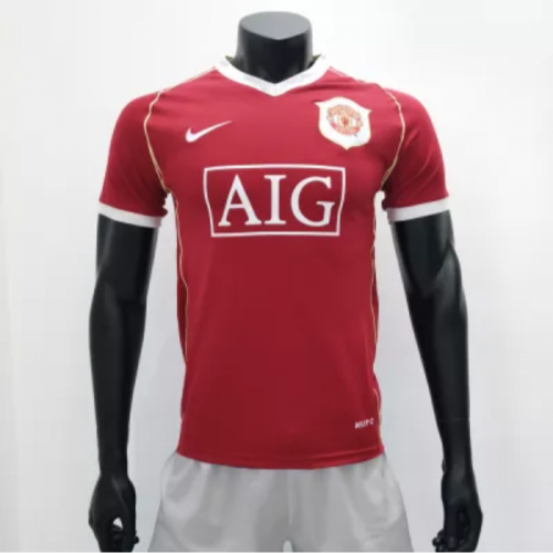 Manchester United 2006/2007 Home Retro Soccer Jerseys(customizable number name)