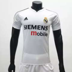 Real Madrid 2004/2005 Home  Retro Soccer Jerseys(customizable number name)