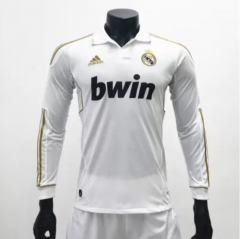 Real Madrid 2011/2012 Home LS Retro Soccer Jerseys(customizable number name)