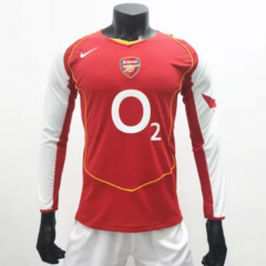 Arsenal 2004/2005 Home Retro Soccer Jerseys(customizable number name)