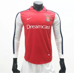 Arsenal 1999/2000 Home LS Retro Soccer Jerseys(customizable number name)