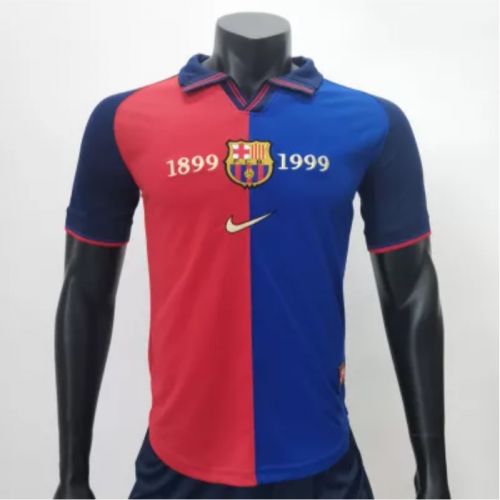 Barcelona 1999/2000 Centenary Home Retro Jerseys(customizable number name)