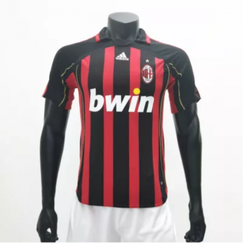AC Milan 2006/2007 Home Retro Soccer Jerseys(customizable number name)