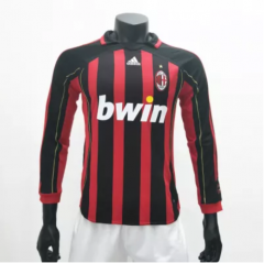 AC Milan 2006/2007 Home LS Retro Soccer Jerseys(customizable number name)