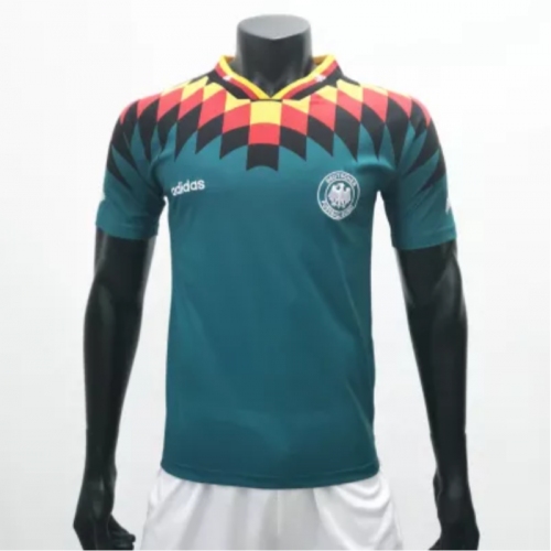 Germany 1994/1996 Away Retro Soccer Jerseys(customizable number name)
