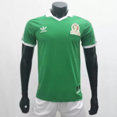 Mexico 1986 Home Retro Soccer Jerseys(customizable number name)