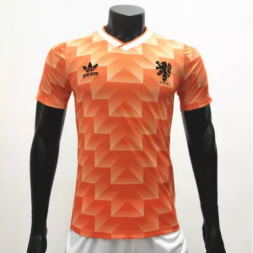 Netherlands 1988 Home Retro Soccer Jerseys(customizable number name)