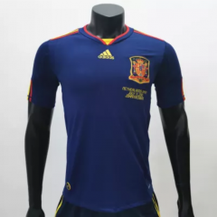 Spain 2010 Away Retro Soccer Jerseys(customizable number name)