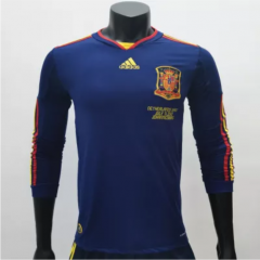 Spain 2010 Away LS Retro Soccer Jerseys(customizable number name)