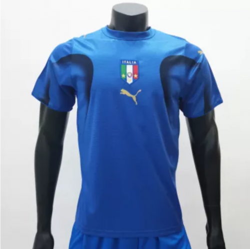 Italy 2006 Home Retro Soccer Jerseys(customizable number name)