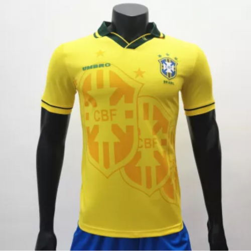 Brazil 1994 Home Retro Soccer Jerseys(customizable number name)
