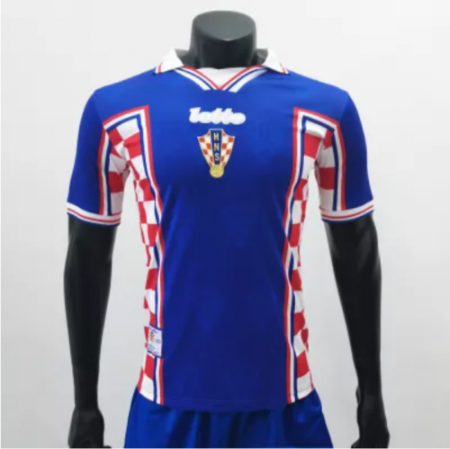 Croatia 1998 Away Retro Socce Jerseys(customizable number name)