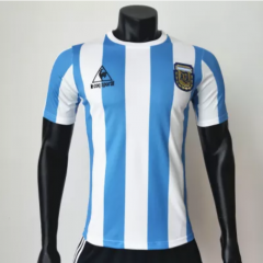 Argentina 1986 Home Retro Soccer Jerseys(customizable number name)