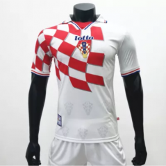 Croatia 1998 Home Retro Soccer Jerseys(customizable number name)