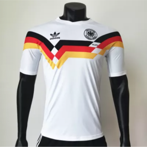 West Germany 19881990 Home Retro Soccer Jerseys(customizable number name)