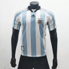 Argentina 1998 Home Retro Soccer Jerseys(customizable number name)