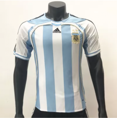Argentina 2006 Home Retro Soccer Jerseys(customizable number name)