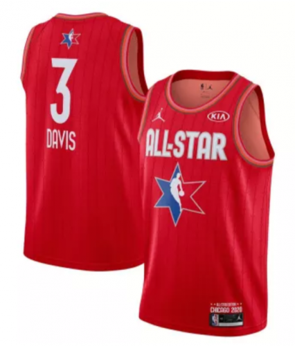 Men's Anthony Davis Red 2020  All Star Game Jerseys