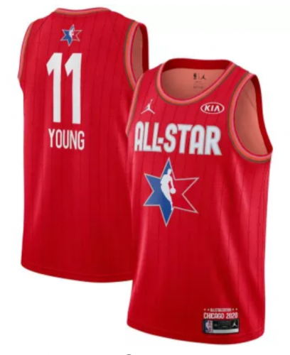 Men's Trae Young Red  2020  All Star  Game Jerseys