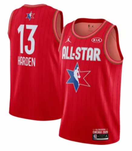 Men's James Harden Red 2020  All Star Game Jerseys