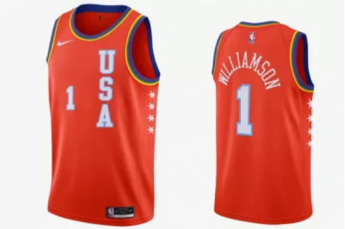 Men's Zion Williamson 2020 RISING Rising stars All Star Game Jerseys