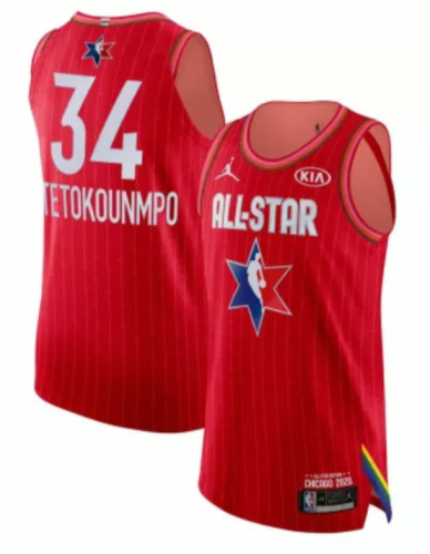 Men's Giannis Antetokounmpo Red 2020  All Star Game Jerseys