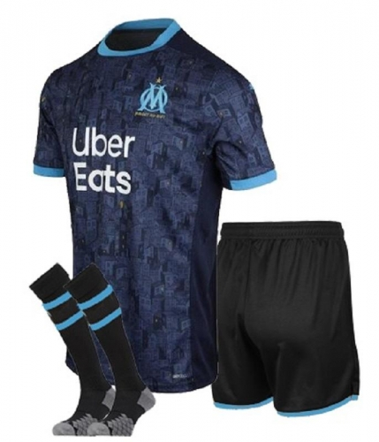 Marseille 2020/2021 away kids 20 21 football jerseys football shirts