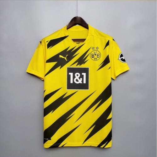 2020 2021 BVB Borussia Dortmund Home Long Sleeve 20 21 Football soccer jersey