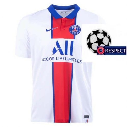 2020-2021 Paris Saint-Germain PSG MAN AWAY Soccer jersey Champions League font