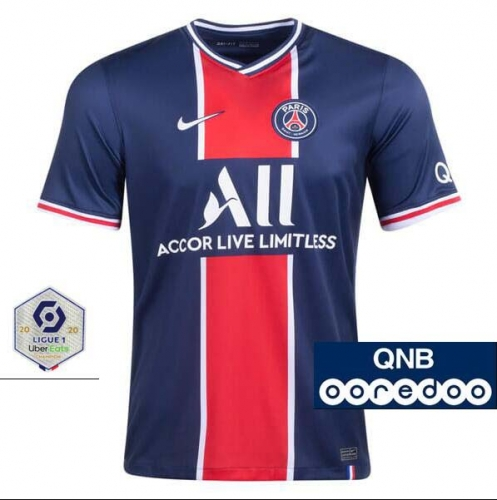 2020-2021 Paris Saint-Germain PSG MAN HOME Soccer jersey League font