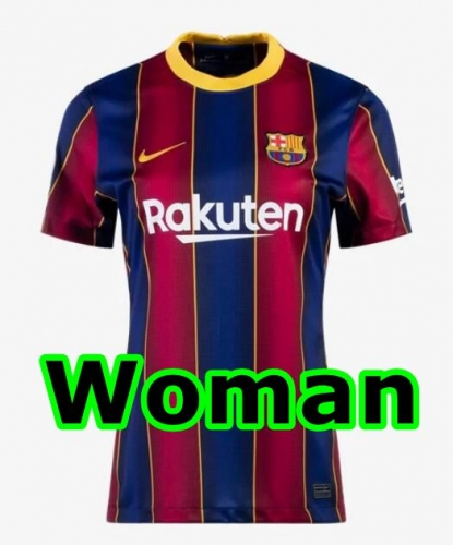 2020-2021 Barcelona HOME WOMAN Soccer jersey League font LA LIAG PATCH