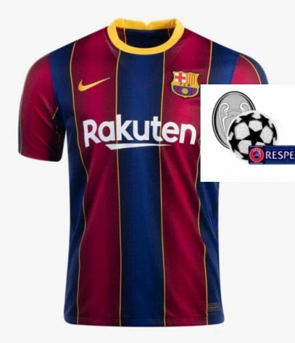 2020-2021 Barcelona HOME Soccer jersey Champions League font UCL PATCH