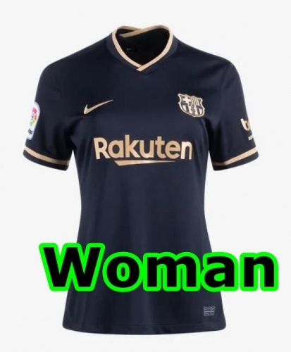 2020-2021 Barcelona AWAY WOMAN Soccer jersey League font LA LIAG PATCH