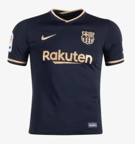 2020-2021 Barcelona AWAY Soccer jersey LA LIGA PATCH League font