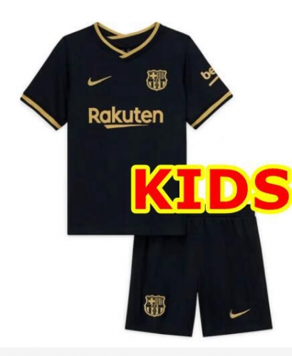 2020-2021 Barcelona AWAY KIDS Soccer jersey League font LA LIAG PATCH
