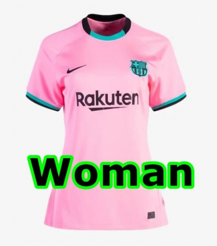 2020-2021 Barcelona THIRD WOMAN Soccer jersey League font LA LIAG PATCH