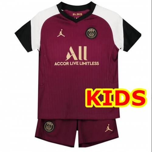 2020-2021 Paris Saint-Germain PSG THIRD KIDS Soccer jersey League font