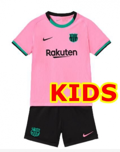 2020-2021 Barcelona THIRD KIDS Soccer jersey League font LA LIAG PATCH