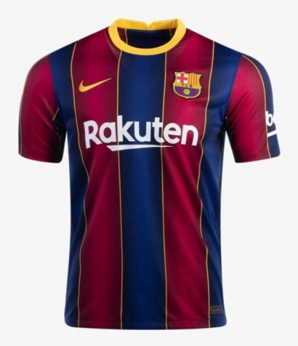 2020-2021 Barcelona home Soccer jersey LA LIGA PATCH League font