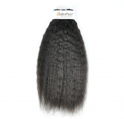 Wholesale 10 Bundles/Lot Kinky Straightl Wave Unprocessed (Pure) 10A Virgin Human Hair