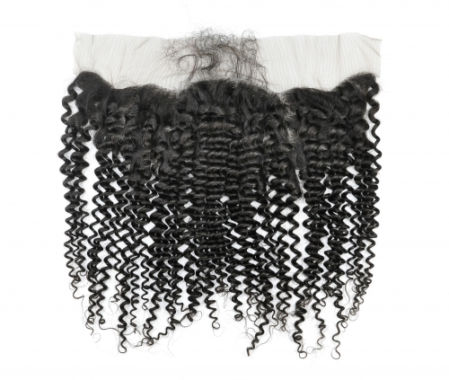 Laborhair 13*4 Kinky Curl Virgin Human Hair Lace Frontal Hair Extensions