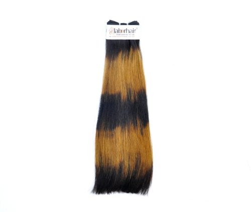 1 Bundle (100g) Grade 10A Virgin Human Hair Double Drawn Five Ombre-Thick Straight Unprocessed (Pure)