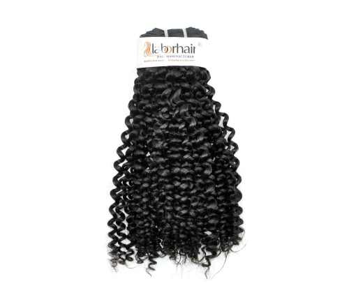 1 Bundle (100g) Grade 10A Virgin Human Hair Double Drawn Miz Curly Unprocessed (Pure)