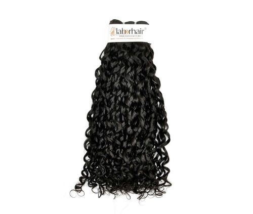 1 Bundle (100g) Grade 10A Virgin Human Hair Double Drawn Bouncy Curly Unprocessed (Pure)