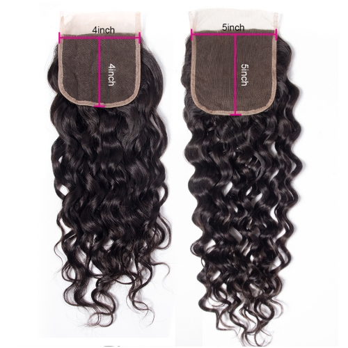 Laborhair 5x5 French Wave(natural wave) Virgin Human Hair Lace Closure 150% Density