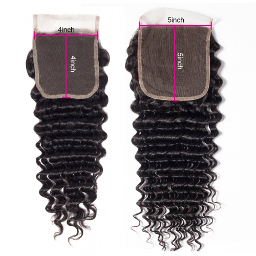 Laborhair 5x5 Deep Curly Wave Virgin Human Hair Lace Closure 150% Density