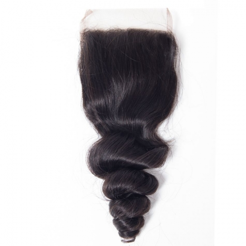 Laborhair 4*4  Loose wavy Virgin Human Hair Lace Closure 150% Density